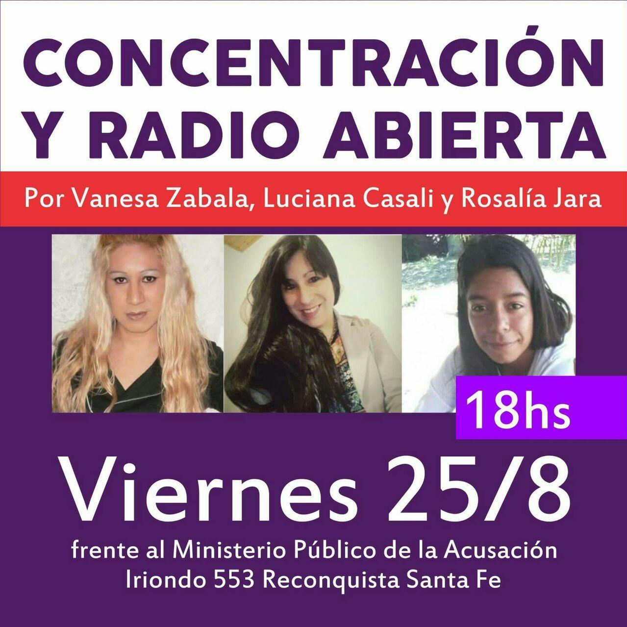 Concentración y radio abierta por justicia