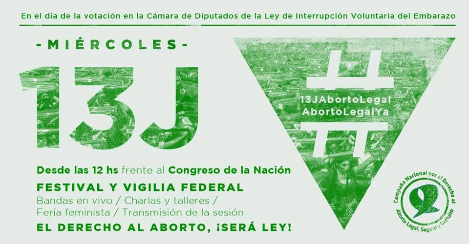 #13j: Organizaciones de mujeres harán vigilia por el aborto legal, seguro y gratuito