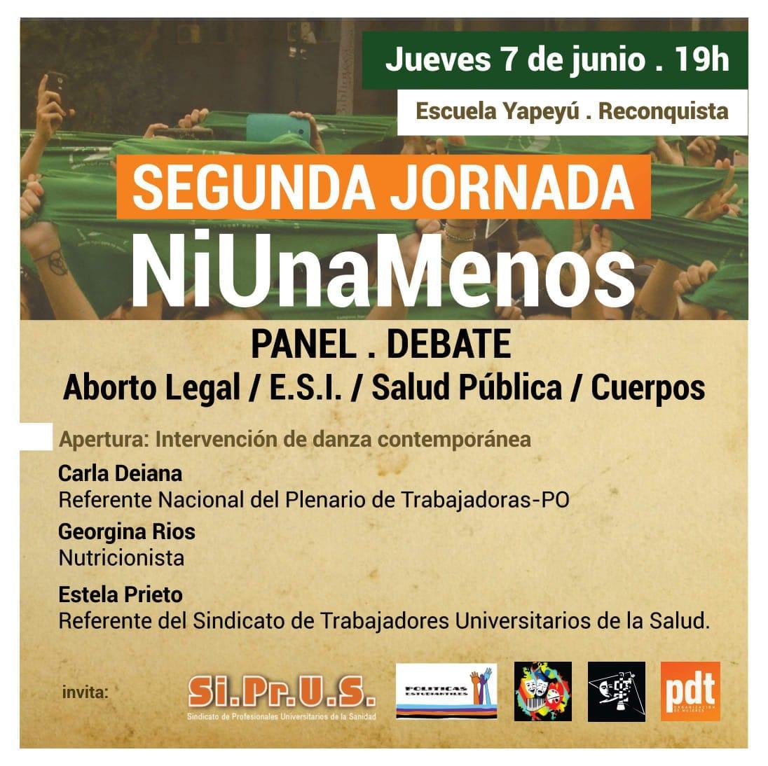 "Panel – Debate : ""2da. Jornada Ni Una Menos"""