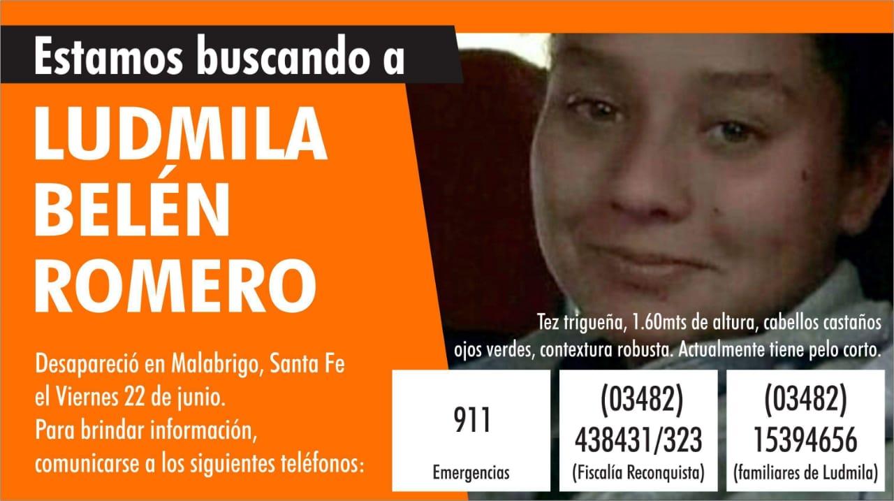 Desesperada búsqueda de Ludmila Romero