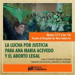 Vera: Justicia por Ana María Acevedo y el Aborto Legal