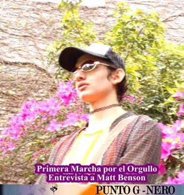 Primera Marcha del Orgullo de Reconquista: Entrevista a Matt Benson