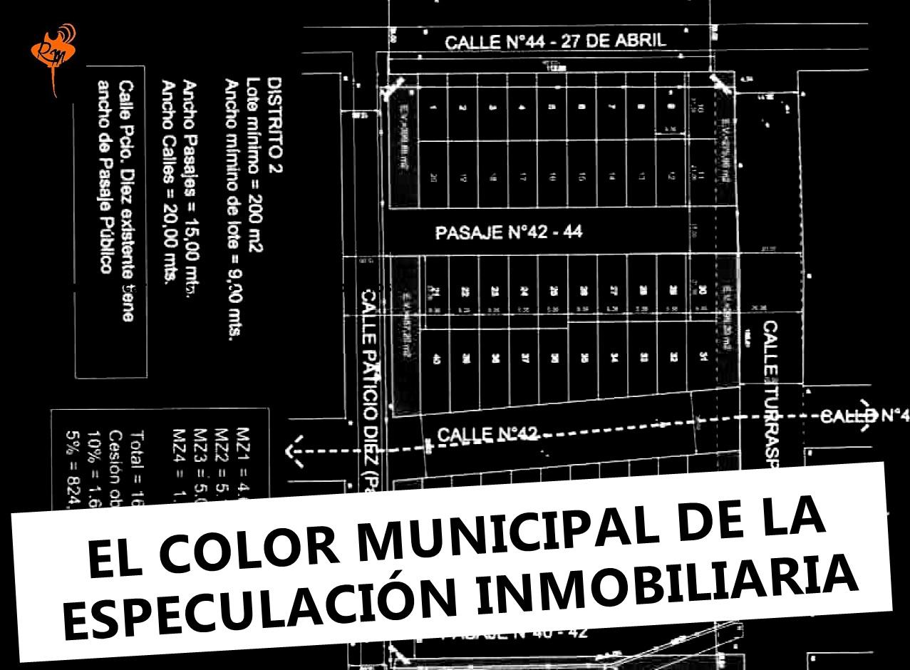 EL COLOR MUNICIPAL DE LA ESPECULACIÓN INMOBILIARIA