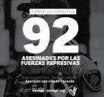 92 personas asesinadas por el aparato represivo estatal en cuarentena