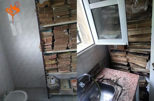 Escándalo: Movieron los archivos históricos de la ciudad al baño y la cocina