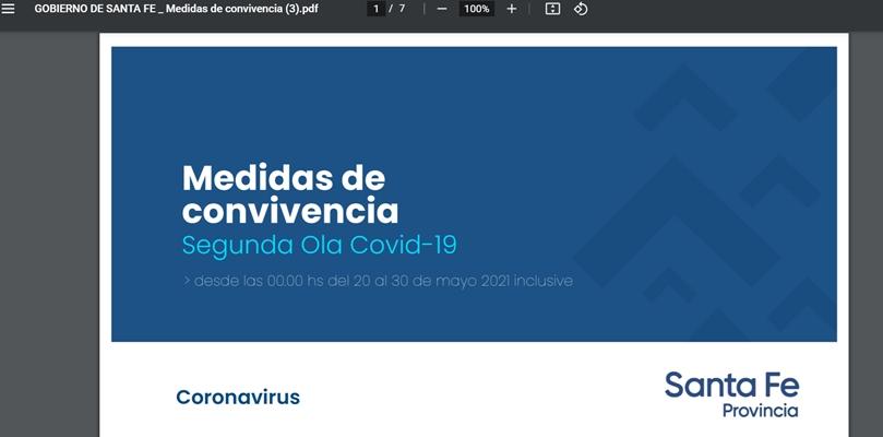Santa fe Nuevas restricciones Covid 19: Nos gobiernan con  placas en PDF