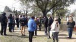 Vecinos se manifestaron contra la instalación de la Escuela Policial en la Pista de Atletismo